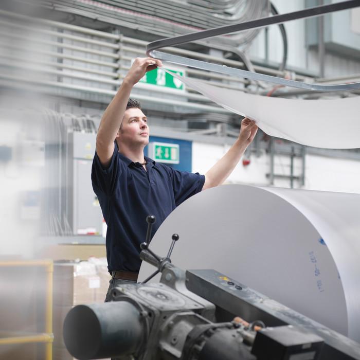 Etikettierlösungen für die Papierindustrie