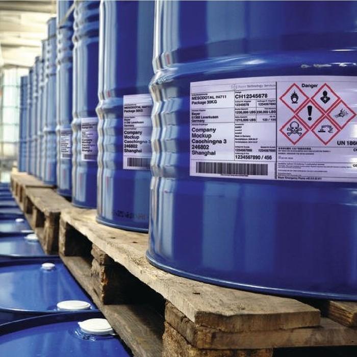 Etikettierlösungen für die Chemieindustrie